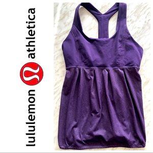 Lululemon Purple Racerback Tank Top Size 10